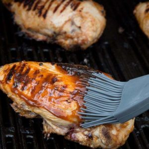Basting the Low Carb Barbecue Chicken Marinade