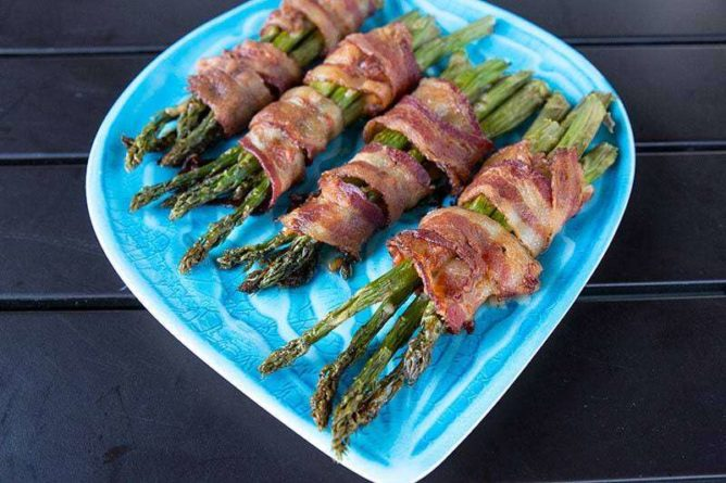 Bacon Wrapped Asparagus - Keto Friendly