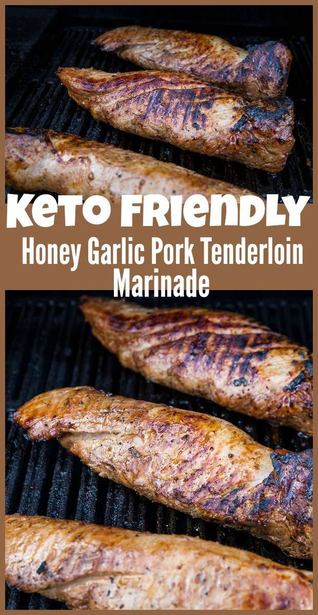 Honey Garlic Keto Pork Tenderloin Marinade #marinade #pork #tenderloin #honey #garlic #keto #lowcarb #recipes #recipe #food