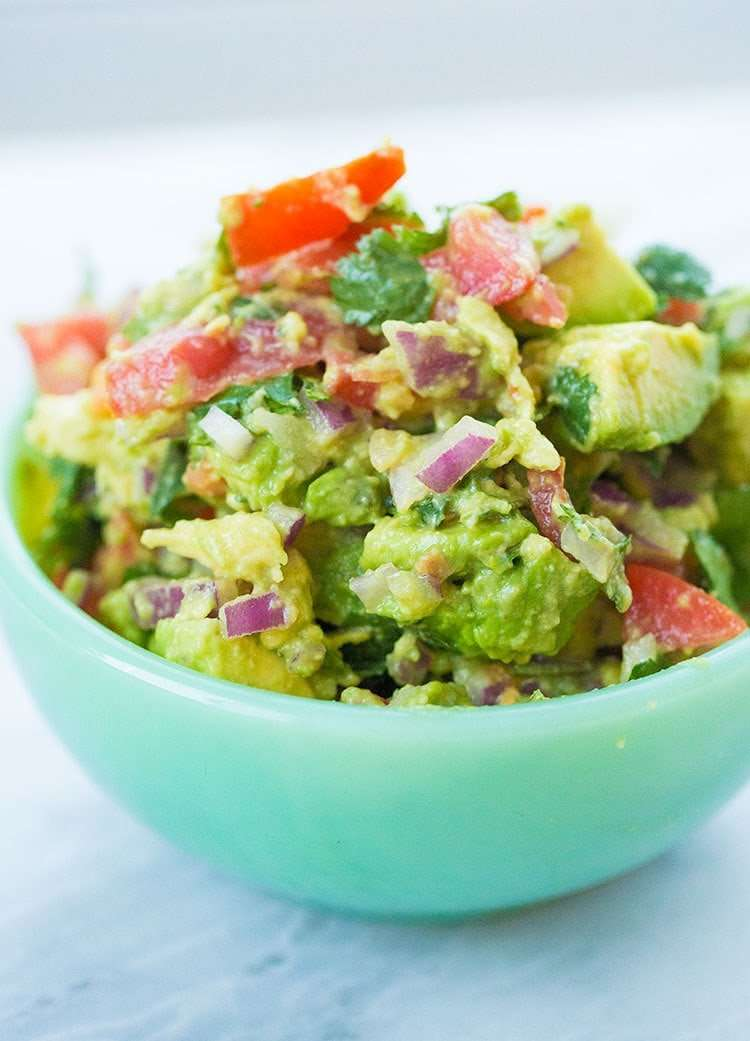 Low Carb Guacamole in a Bowl