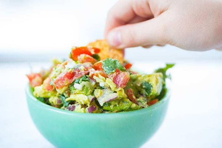 Low Carb Homemade Guacamole - 3