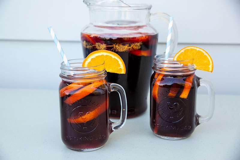 Low Carb Sangria made with Red Wine