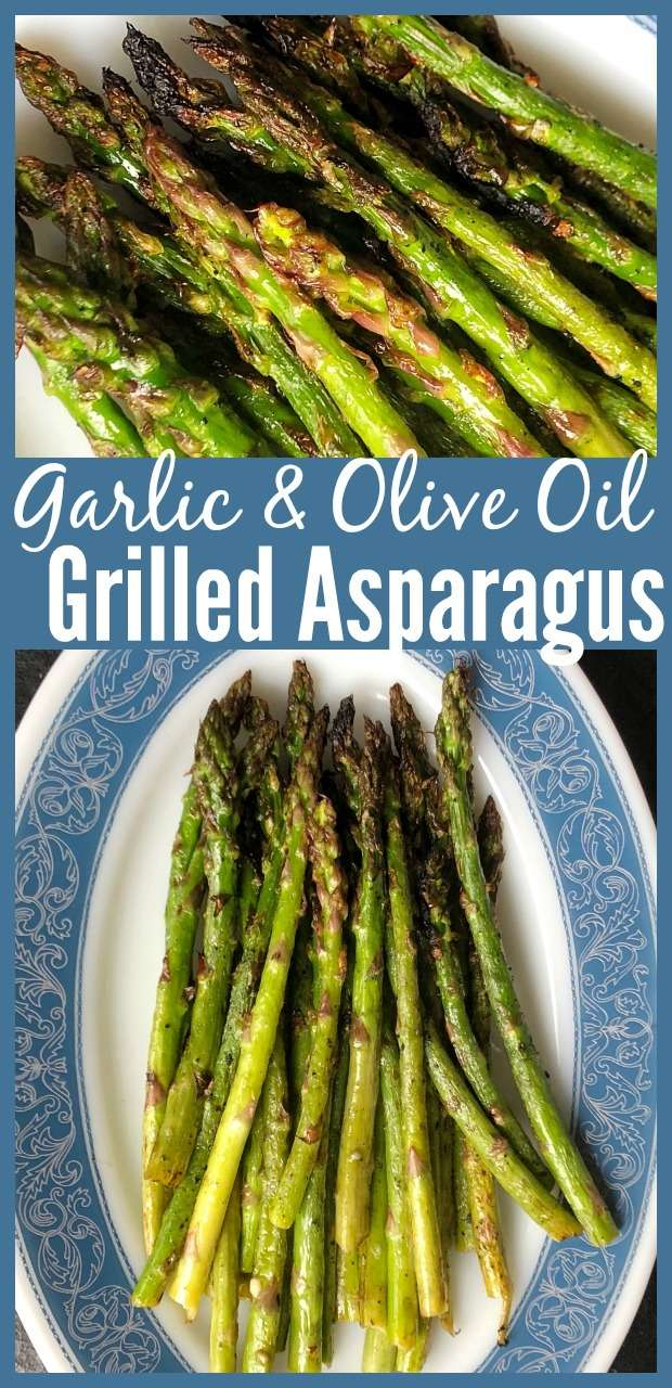 How to make Grilled Asparagus with garlic and olive oil! Healthy and easy to make! #asparagus #healthy #garlic #grilling #vegetables #oliveoil #keto #lowcarb