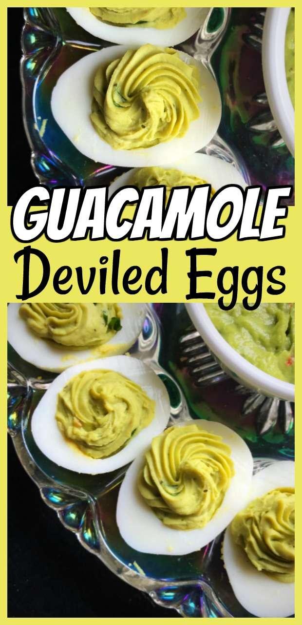 Guacamole Deviled Eggs #eggs #guacamole #deviled #deviledeggs #recipe
