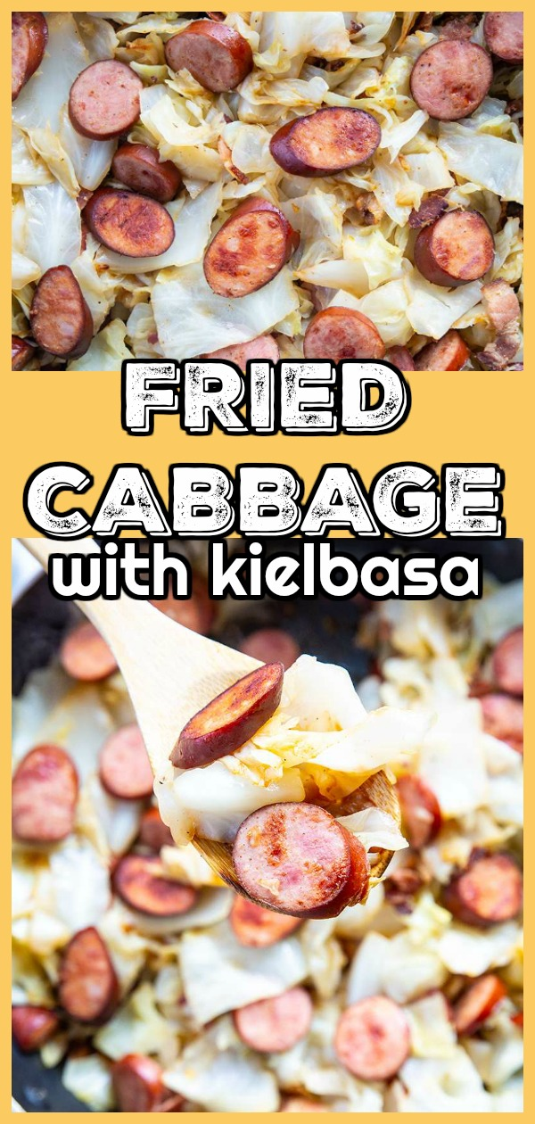 Ukrainian Fried Cabbage with Kielbasa by @thekitchenmagpielowcarb #cabbage #fried #lowcarb #kielbasa #keto #recipe #dinner #vegetable