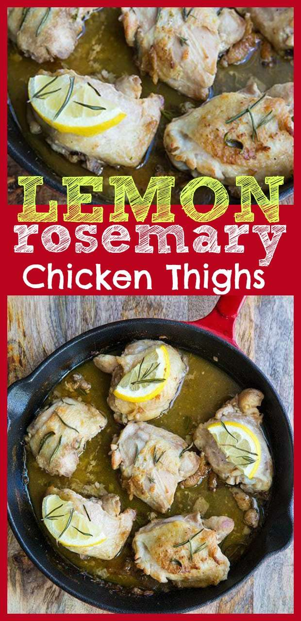 lemon rosemary chicken thighs - oven baked #lemon #rosemary #ovenbaked #chicken #chickenthighs #recipe #food