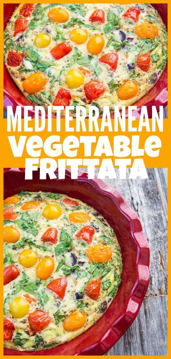 meditterranean vegetable frittata