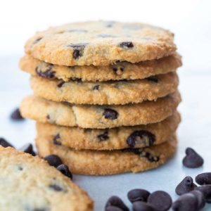 This is what your Low Carb Chocolate Chip Cookies will look like when finished.