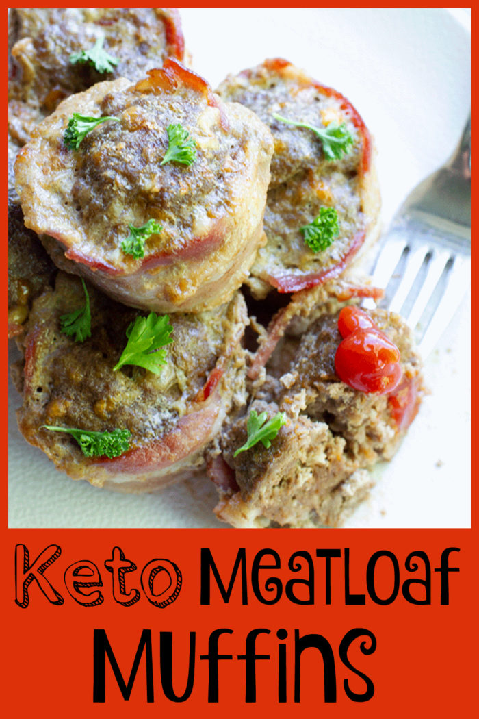 Keto Meatloaf Muffins with bacon make these an extra special treat! Keto Meatloaf, Meatloaf, Muffins, Keto, Low Carb,