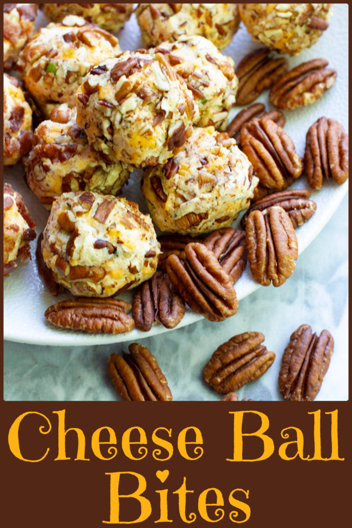 Cheese Ball Bites are a perfect snack or party appeizer that will have your guests begging for the recipe! #cheeseball # Cheeseballbites #snacks
