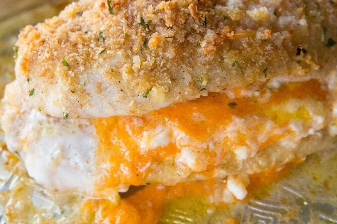 Double Cheese Stuffed Chicken