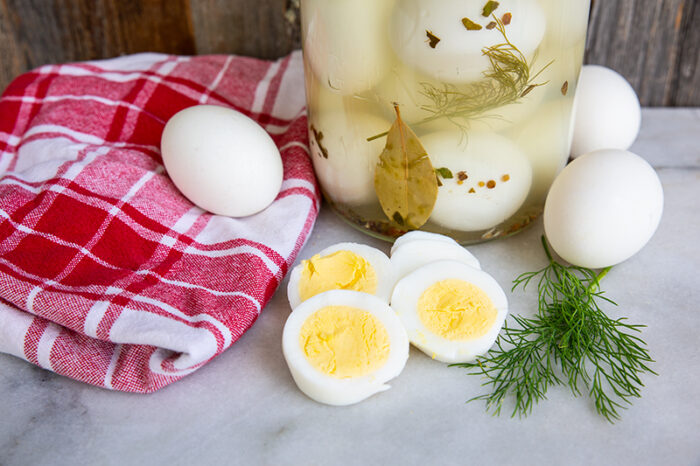 Refrigerator Dill Pickled Eggs