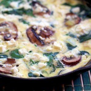 Mushroom Spinach Frittata