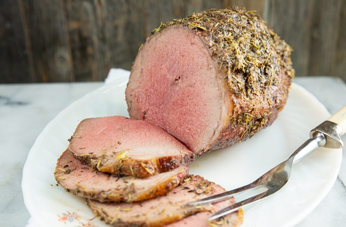 herb and garlic round roast - low carb